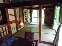 宿の和室(冷暖房完備)
