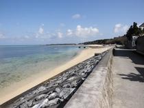 徒歩1分の海岸