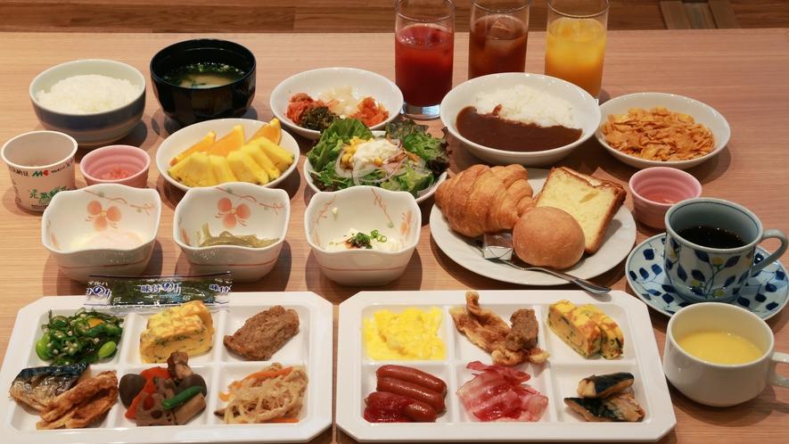 朝食盛り付け例<和洋食バイキング>