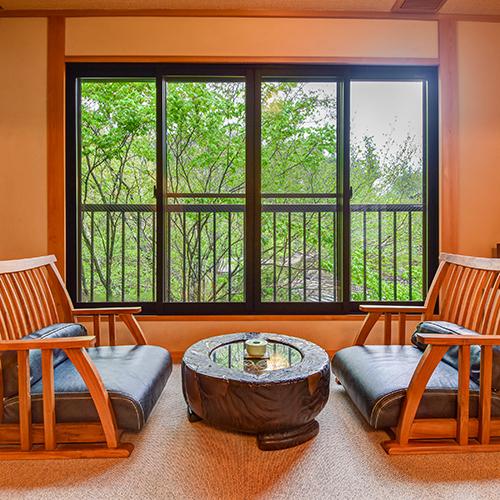 *おまかせ二間(藤)/二間のお部屋一例です。こちらは2階「藤」のお部屋です。