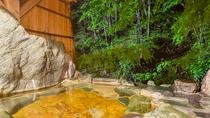 *1階宝泉の湯(岩風呂・夜)/夜間は22時まで、翌朝は6時からご利用いただけます