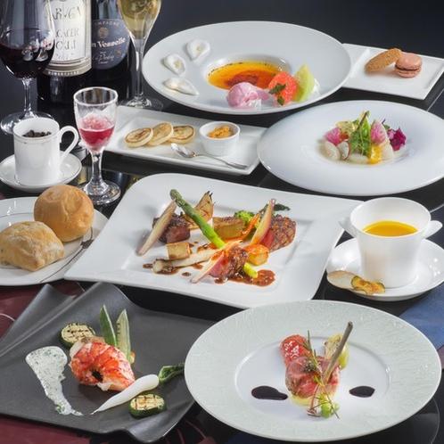 全8品。ホテル最上グレードのコース【極みフレンチ】※季節と食材の仕入れ状況によりメニュー変更あり。