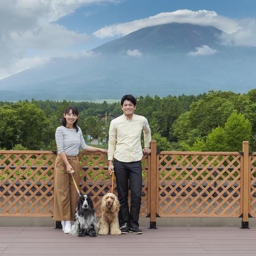 富士山をバックに記念撮影はいかがですか?