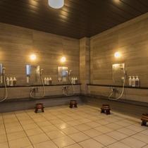 気持ちよく入浴をお楽しみいただけるようゆったりとしたスペースの洗い場をご用意しております。