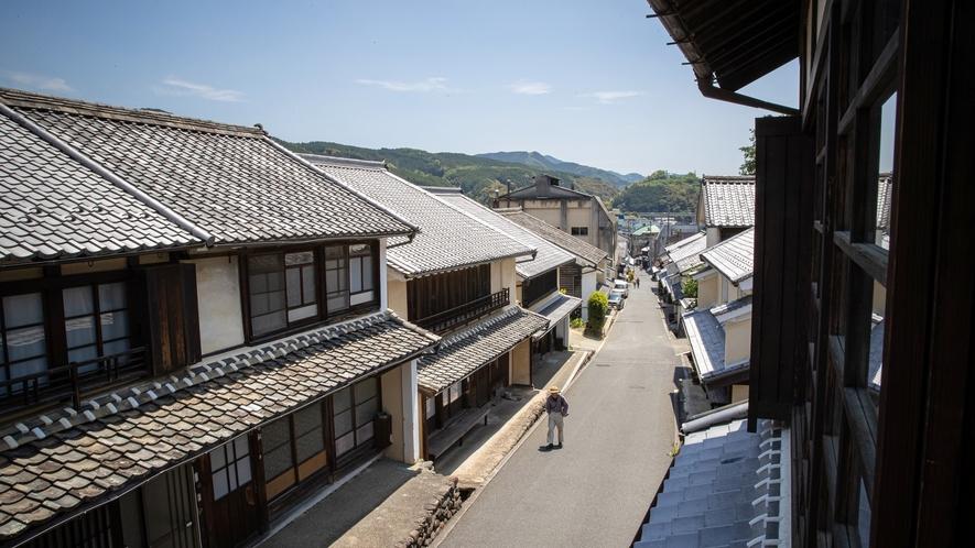 *【お部屋からの景色】内子の町並みをご覧いただけます