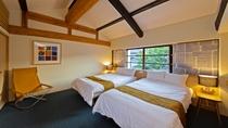 *【洋室】セミダブルベッドが2台あるお部屋