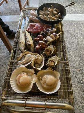 【わんちゃんと一緒♪】朝食・バーベキュー付きプラン 【山の幸・海の幸】 ドームハウス