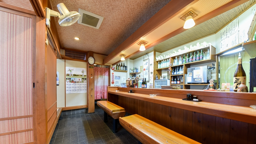*【食事処】お食事は1階の居酒屋でどうぞ。自慢の料理をふるまいます!