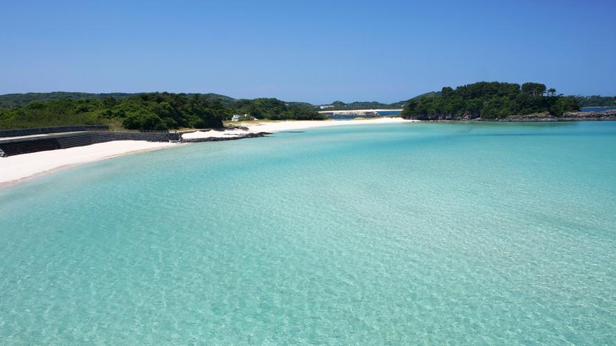 *【大浜海水浴場】奇跡の砂浜と称される美しいビーチでファミリーに大人気!!