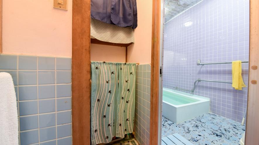 *【脱衣所】お風呂は先着順です。16:00~翌10:00のお好きな時間帯にお入りください。