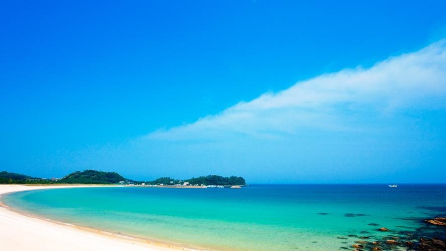*【筒城浜海水浴場】日本の快水浴場100選に選ばれた白砂のビーチ!