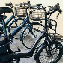 レンタサイクル/平坦な道が多い軽井沢はサイクリングにも最適。観光地巡りにぜひご利用ください