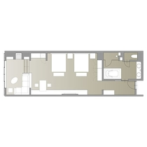 ジュニアスイート/68.8~70.1㎡/広々とした空間でお寛ぎいただけるスイートルーム