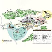 施設エリアマップ/7万坪の大自然
