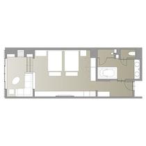 プレミアツイン/60.3㎡/ベッド2台を並べた、ハリウッドツインタイプの客室