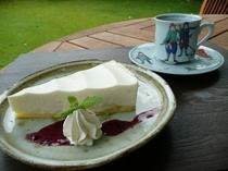 【ケーキセット】レアチーズケーキ+1ドリンク