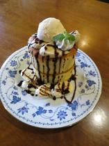 窯焼きスフレパンケーキ:チョコバナナ