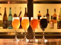 クラブラウンジ 4種のクラフトビールや焼酎、カクテル、ワインをご用意しております。