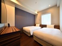 スタンダードツイン 110cm幅のベッドが2台入ったお部屋となります。