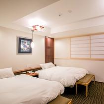 【ツイン】茶色を基調とした温かみのあるお部屋