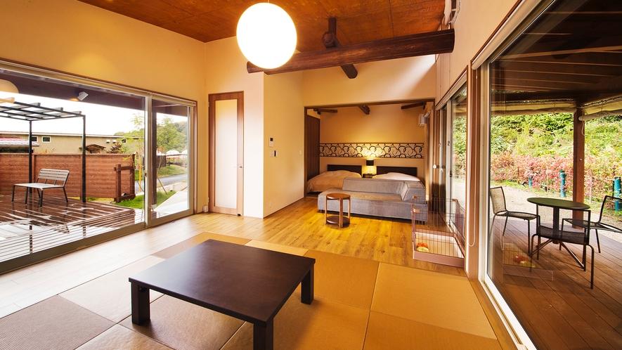 【HILL TOP】<ペット可能客室>客室露天風呂(金の湯)+プライベートプール