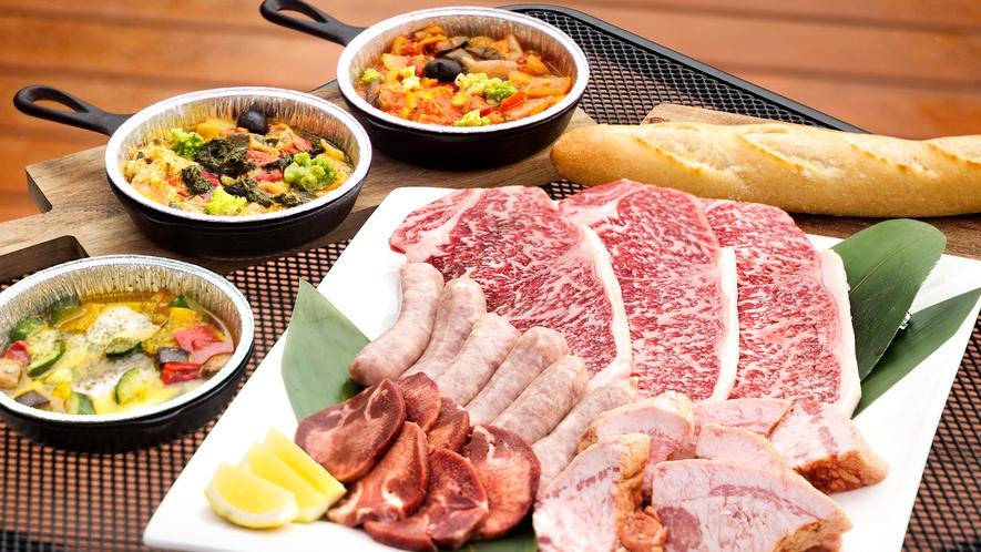 【グランピングBBQ】肉