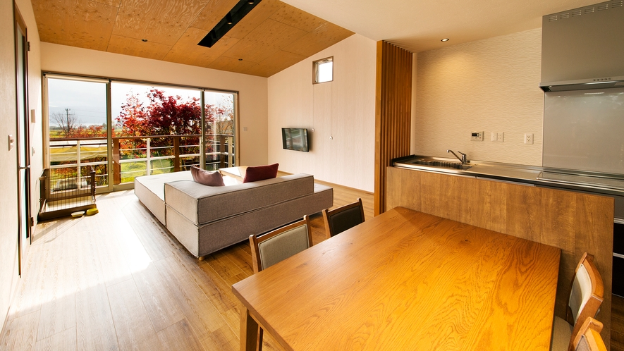 【スタンダードDOG】<ペット可能客室>総面積685㎡、客室温泉風呂(銀の湯)+プライベートプール