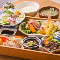 【レストランメニュー一例】ランチ限定♪新鮮魚介を使ったスパビレッジ御膳。