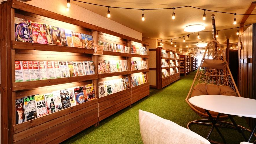 無料貸し出しコーナー♪マンガや雑誌など、約5,000冊ございます♪