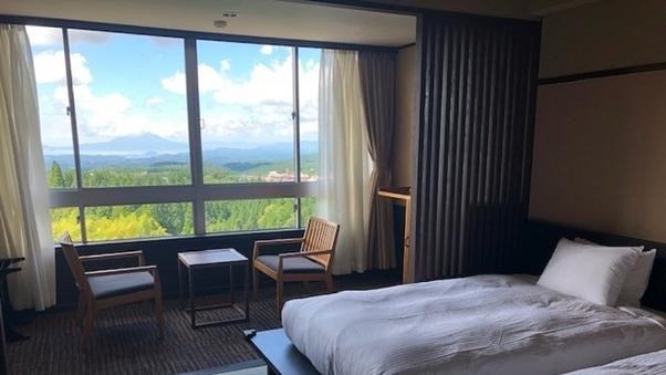【景観重視】桜島を望む和の趣が映える洋室