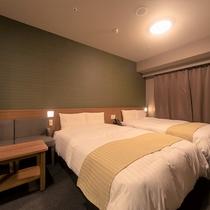 ■ツインルーム21平米(ベッド幅140cm×195cm×2台)■