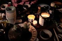 蝋燭で場を演出