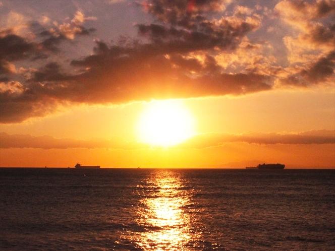 わんshipからの夕日眺め