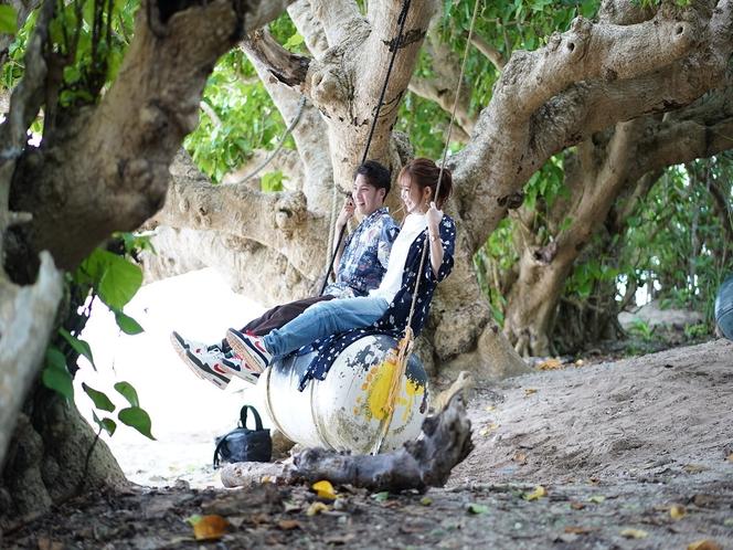 竹富島 星の砂浜