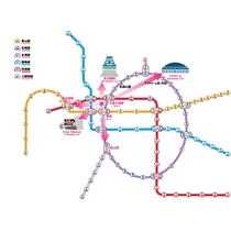 ホテル周辺の路線図と駅・スポットまでの所要時間