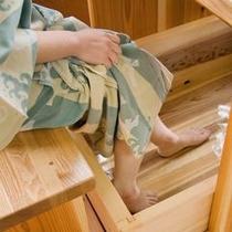 足湯付き客室 一例