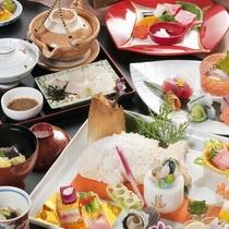 キラキラ会席イメージ★瀬戸内鯛のお茶漬けや小鯛の塩釜焼も♪