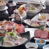 ☆お料理イメージ♪愛媛産鯛+伊予牛1品付プラン♪