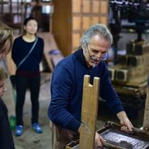 五十崎社中・日仏の匠の作品『五十崎ギルディング和紙』