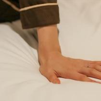 寝心地抜群のベッドです