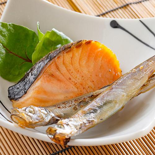 朝食:焼き魚