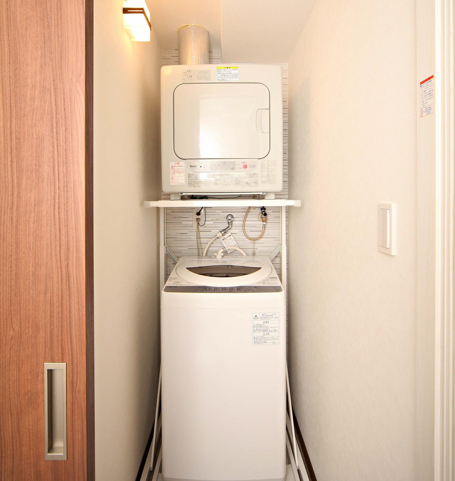 【バリアフリールーム】洗濯機/ガス乾燥機