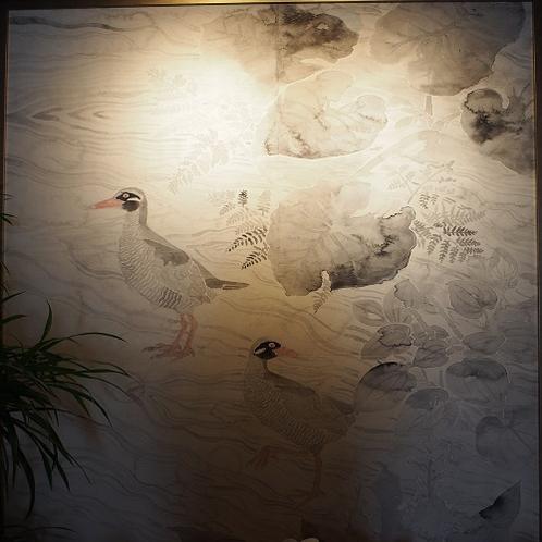 【大型水墨画】芸術家、菊田一朗氏による大型水墨画