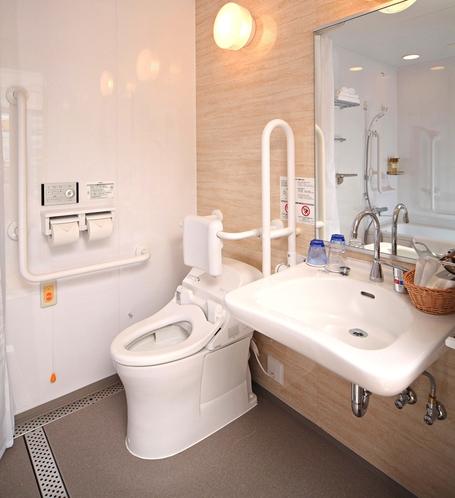 【バリアフリールーム】洗面台/ウォシュレット付きトイレ
