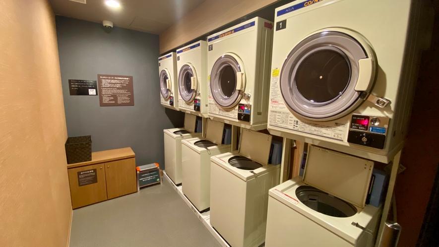 【ランドリーコーナー】地下1階  洗濯機のみ無料・乾燥機有料