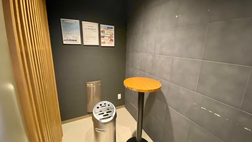 【喫煙室】2階・8階 喫煙はこちらでお願い致します。※客室内は全室禁煙です