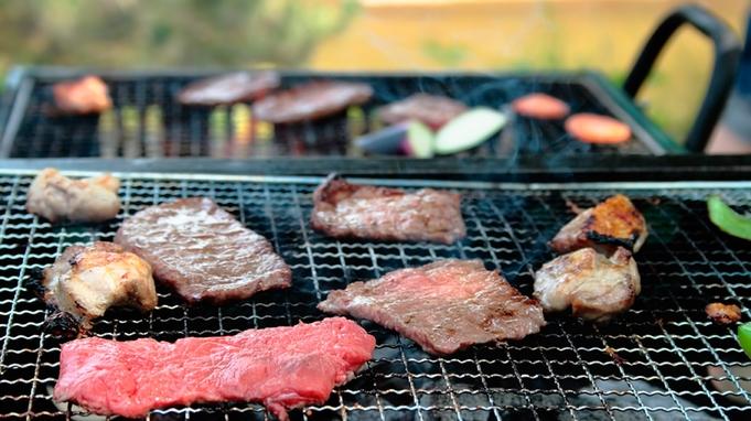 【夕食付】肉屋直営!リーズナブルなAコース★雨でも安心♪屋根付BBQハウスで楽しむバーべキュー