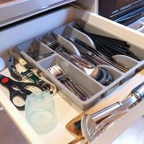 *【コテージ/調理器具一例】調理器具等も揃えておりますので室内でのお食事も安心
