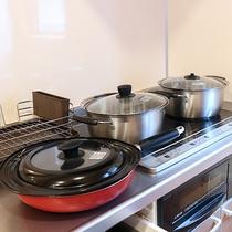 *【コテージ/鍋セット一例】コンロもございますのでコテージ内でも調理も可