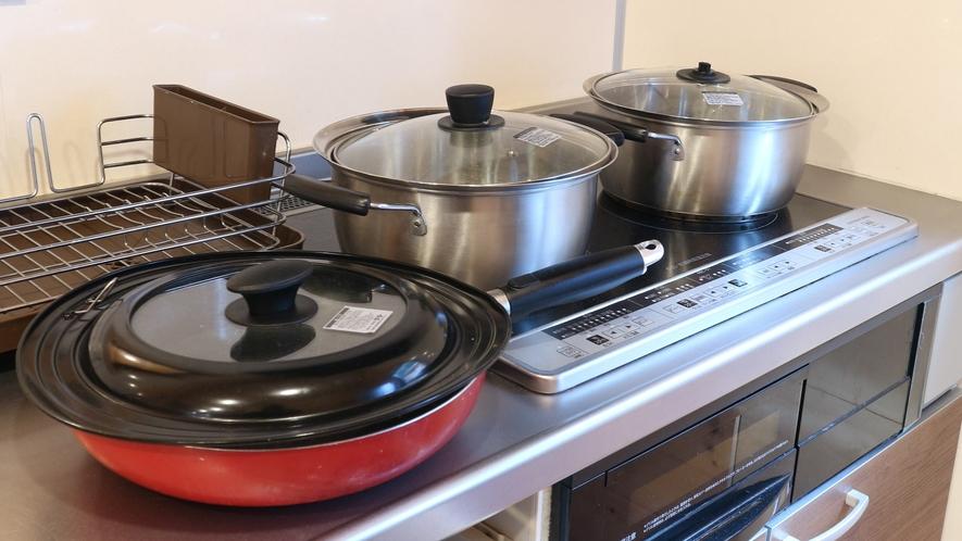 *【コテージ/鍋セット】コンロもございますのでコテージ内でも調理も可能。